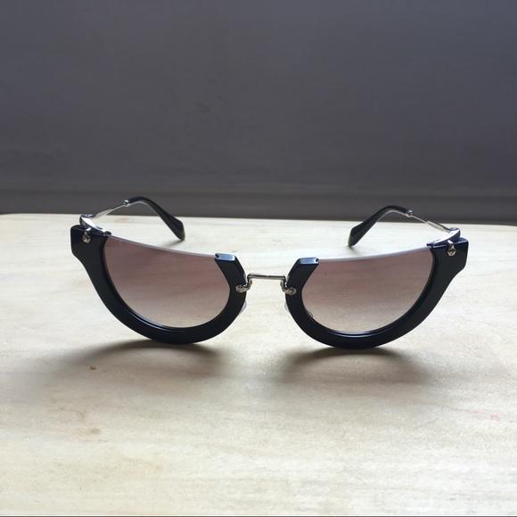 77d30c73d08 Miu Miu Wink Rasoir Cut Off Sunglasses. M 5ad68577077b97d748d882bc